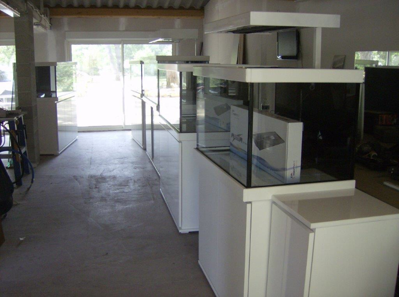 Mod les et r alisations center aquarium - Meuble aquarium sur mesure ...